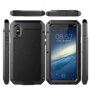 Shockproof Gorilla Glass Metal Case for iPhone X