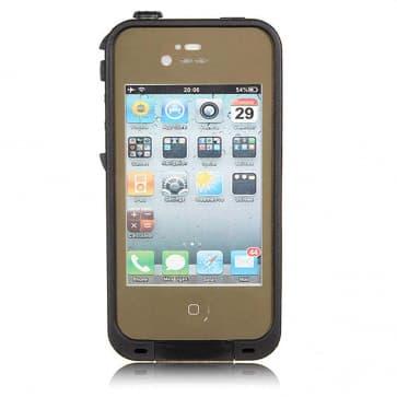 Waterproof Shockproof iPhone 5 Waterproof Protective Case - Dark Flat Earth Brown