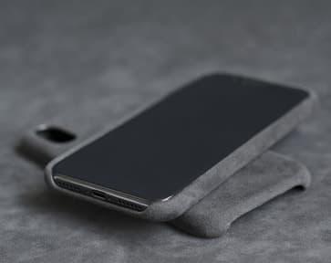 Alcantara Grey Case for iPhone X