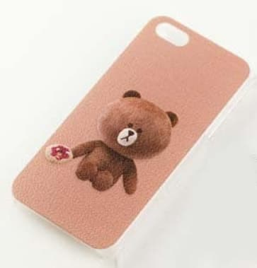 Line Character Case Brown Bear for iPhone 6 Plus
