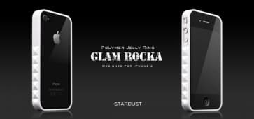 More Thing White Stardust Glam Rocka Jelly Ring iPhone 4 Bumper Case