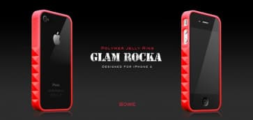 More Thing Red Bowie Glam Rocka Jelly Ring iPhone 4 Bumper Case