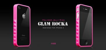 More Thing Pink Kiss Glam Rocka Jelly Ring iPhone 4 Bumper Case