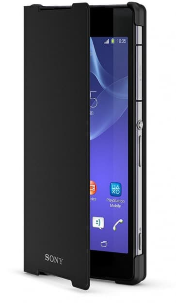 Official Sony Style Cover Stand Case for Xperia Z2-Black