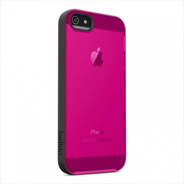 Belkin Grip Candy Sheer for iPhone 5 5s Blacktop Day Glow