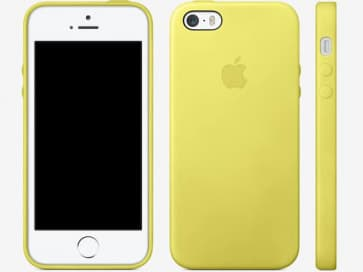 Leather Case for Apple iPhone 5s Case Yellow