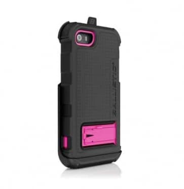 Ballistic iPhone 5 5s Hard Core Series Case Black Pink