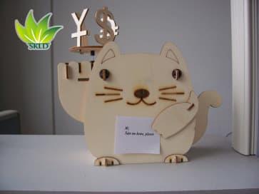 DIY Solar Kits Plywood Solar Fortune Cat