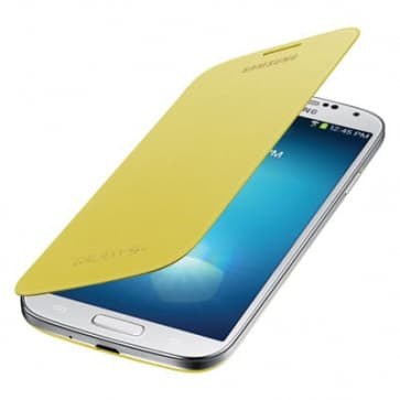 Samsung Galaxy S4 Yellow Flip Cover