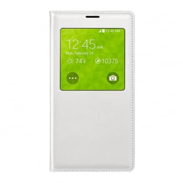 Samsung Galaxy S5 S View Qi Wireless Charging Cover-White