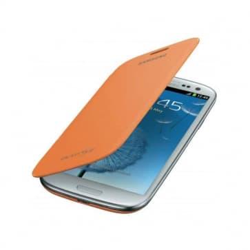 Samsung Galaxy S3 S III Flip Cover - Orange