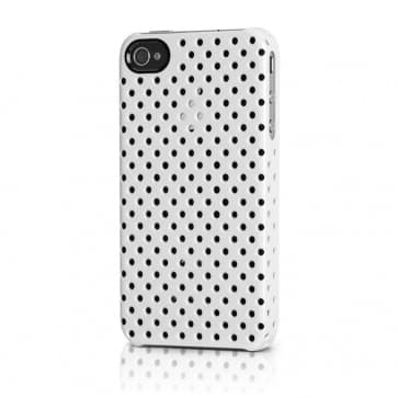 Incase Perforated Black Snap Case for iPhone 4 4S (White)