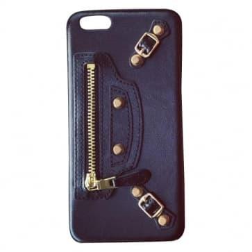Balenciaga Leather iPhone 6 6s Plus Case - Black