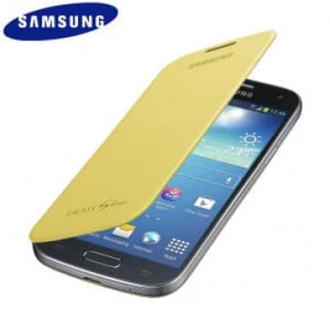 Samsung Galaxy S4 Mini Flip Yellow Case Cover