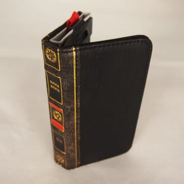 Book Style Leather Wallet ID Case Black iPhone 5 5s SE