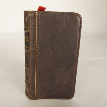 Book Style Leather Wallet ID Case Brown iPhone 5 5s SE