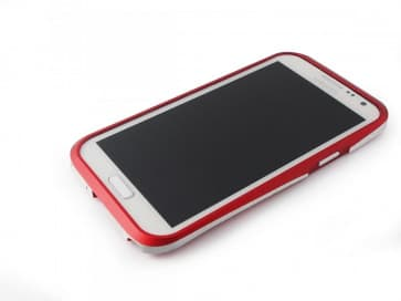 Samsung Galaxy Note 2 Draco Thunder Red Aluminum Bumper Case