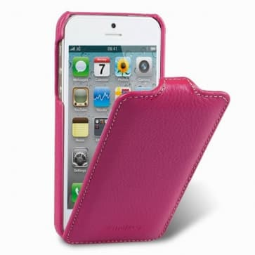 Melkco Premium Leather Case for Apple iPhone 5 - Jacka Type (Purple)