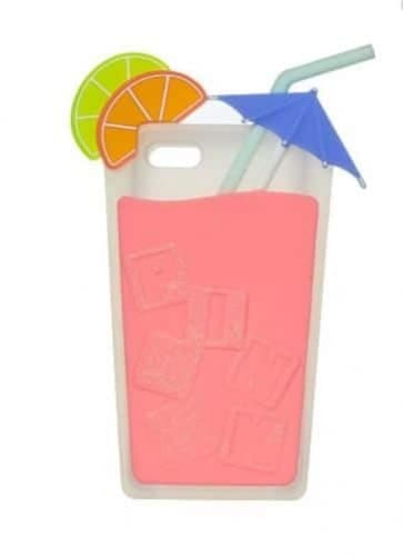 Victoria's Secret Pink Drink Unique Shape iPhone 4 4s Soft Case