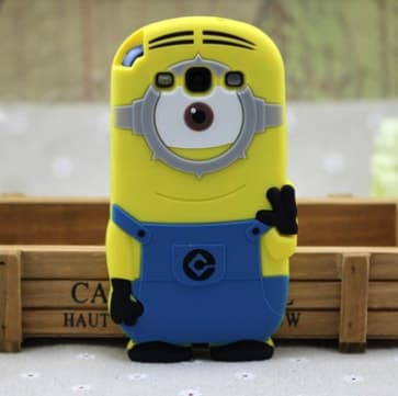 3D One Eye Minion Despicable Me Case for Galaxy S3