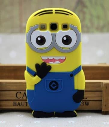 3D Minion Despicable Me Case for Galaxy S3 Both Eyes