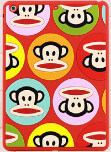Paul Frank Silicone Case for iPad Air Talkative Monkey Red Multi Julius