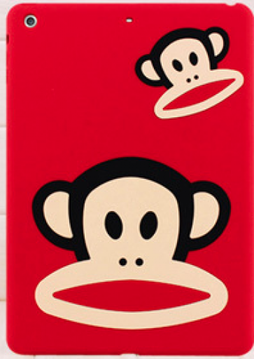 Paul Frank Silicone Case for iPad Air Red Double Mouth Monkey Julius