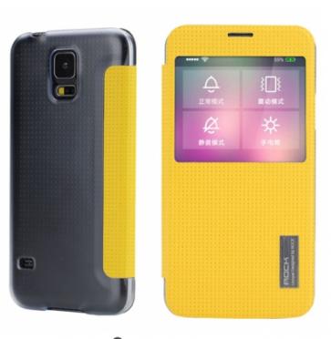 Rock Elegant Series Flip Case for Samsung Galaxy S5 Lemon Yellow