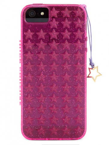 Juicy Couture Case for iPhone 5 5s Starburst Jelly Pink Glitter