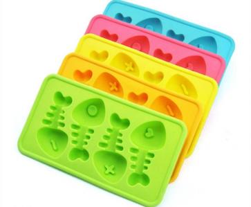 Fish Bone Shape Ice Cubes Silicone Ice Cube Tray