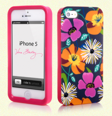 Vera Bradley Snap On Case for iPhone 5 5s Jazzy Blooms