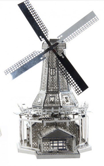 DIY 3D Stainless Steel Metal Puzzle Laser Cut-Dutch Windmill
