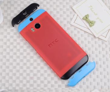 HTC One M8 Original Double Dip Case Red Blue Black