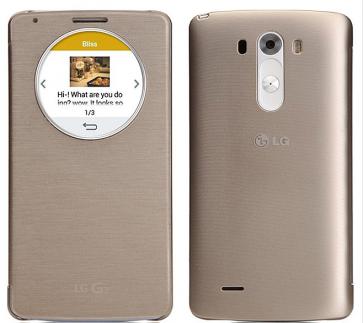 Original LG G3 Quick Circle NFC Wireless Charging Case Shine Gold