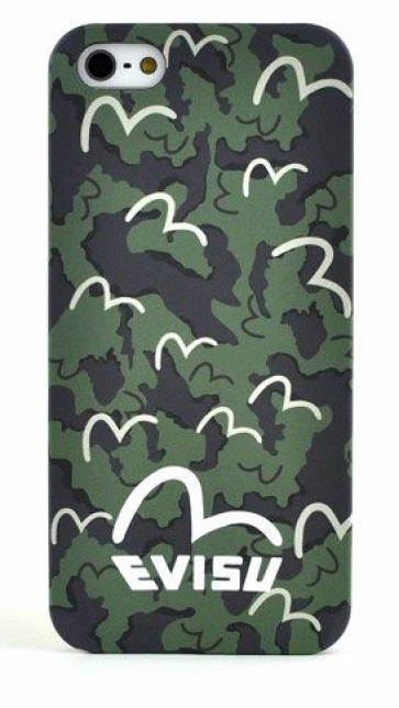 Evisu Japan Case for iPhone 5 5s Green Camo