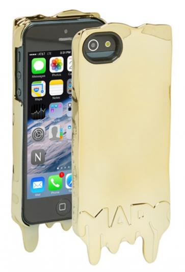 Marc Jacobs Melts Metallic Gold iPhone 5 5s Case