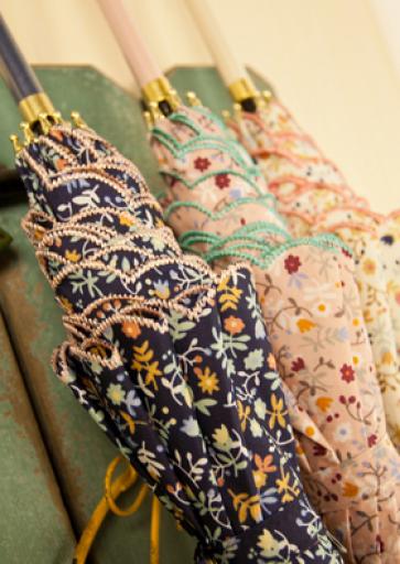 Japanese Zaka Floral Print Stick Umbrella