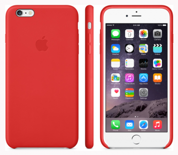 Leather Case for Apple iPhone 6 Red