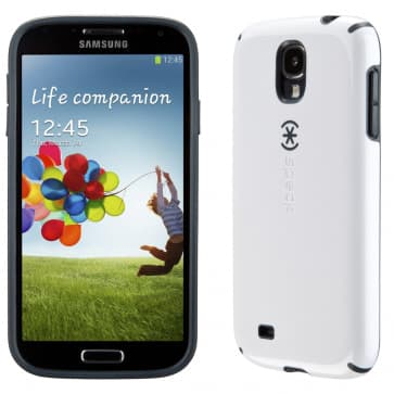 Speck CandyShell White Charcoal Case For Galaxy S4