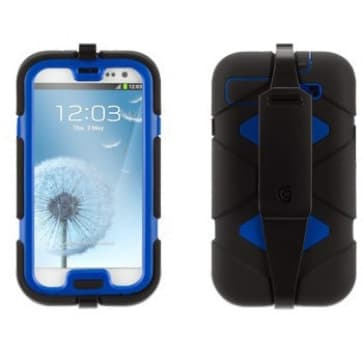 Griffin Survivor Black Blue with Belt Clip for Samsung Galaxy S3 III GB36053-2