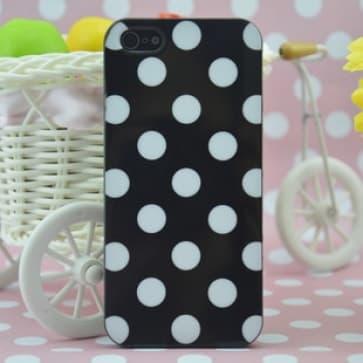 Fashion Designer Polka Dot New York Agenda Style Black TPU Case for iPhone 5