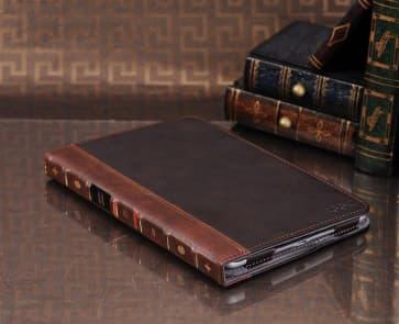 iPad Mini Book Style Brown Leather Case