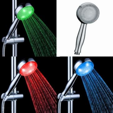 HotelSpa Ultra Luxury LED Color Temperature Controlled Hand Shower Head