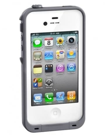 Waterproof Shockproof White Case for the iPhone 4 / 4S