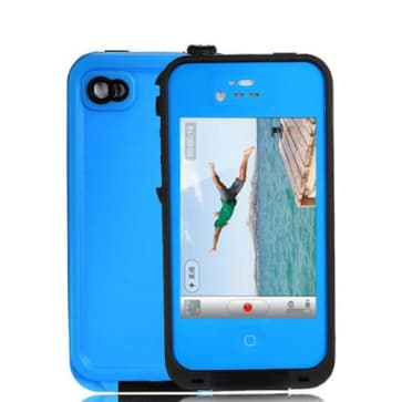Waterproof Shockproof Blue Black Case for the iPhone 4 / 4S