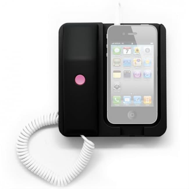 Black Retro Telephone Phone X Phone Iphone Smartphone Dock Station Headset Headphone Tablet Phone Case