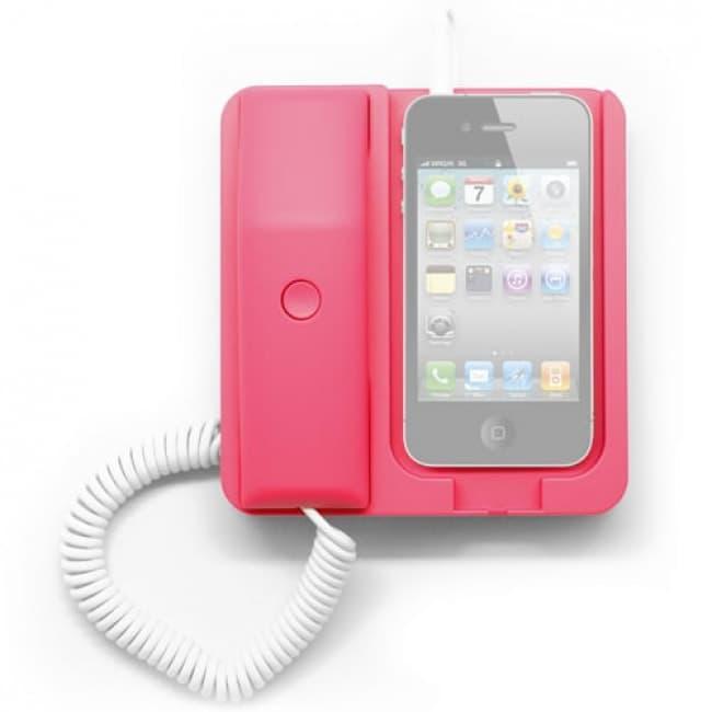 Pink Retro Telephone Phone X Phone Iphone Smartphone Dock Station Headset Headphone Tablet Phone Case
