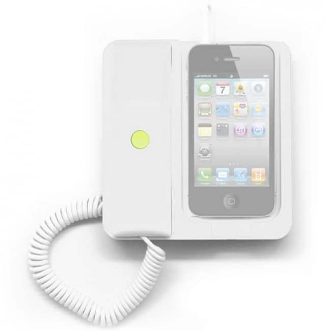 White Retro Telephone Phone X Phone Moshi Pop Apple Iphone Smartphone Dock Station Headset Headphone Tablet Phone Case