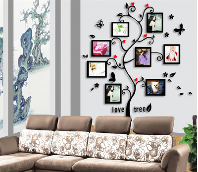 Living Room Tree Photo Frames Wall Decal Sticker Tablet Phone Case