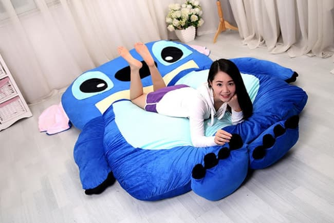 Flounder Stuffed Animal, Giant Stitch Plush Pillow Bed 230cm 7 5ft Tablet Phone Case